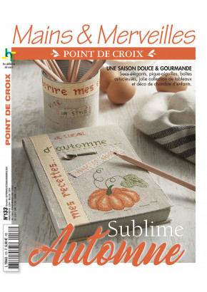 Mains & Merveilles Point de Croix N°133 - Sublime automne - Les éditions de saxe