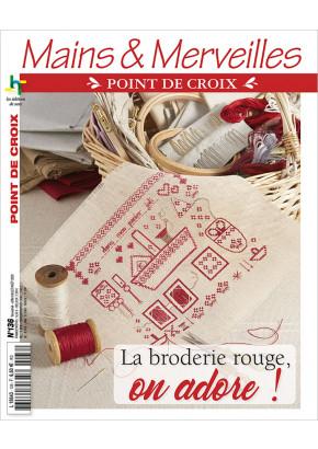 Mains & Merveilles Point de Croix N°136 - La broderie rouge, on adore !