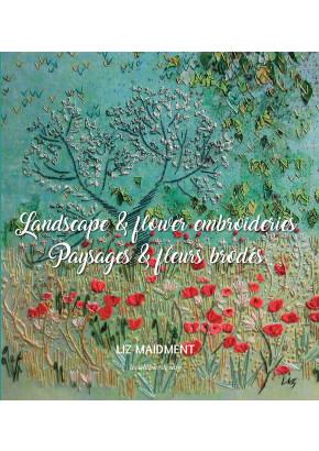 Paysages & fleurs brodés