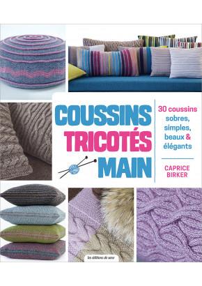 Coussins tricotés main