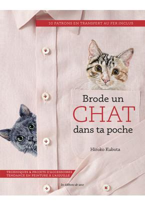 Brode un chat dans ta poche - Hiroko Kubota - Broderie - Les éditions de saxe