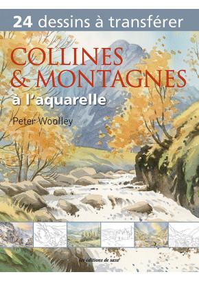 Collines & montagnes à l'aquarelle