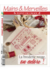 Mains & Merveilles Point de Croix N°136 - La broderie rouge, on adore !