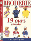 Broderie Inspiration hors série 3 - 19 ours à broder