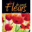 Les fleurs de pavot à l'acrylique